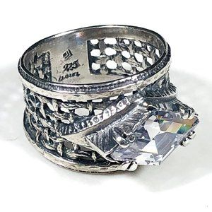 Silpada Diamond Cubic Zirconia Ring Size 8 RARE